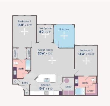 2 bedroom apartments for rent in Charlottesville