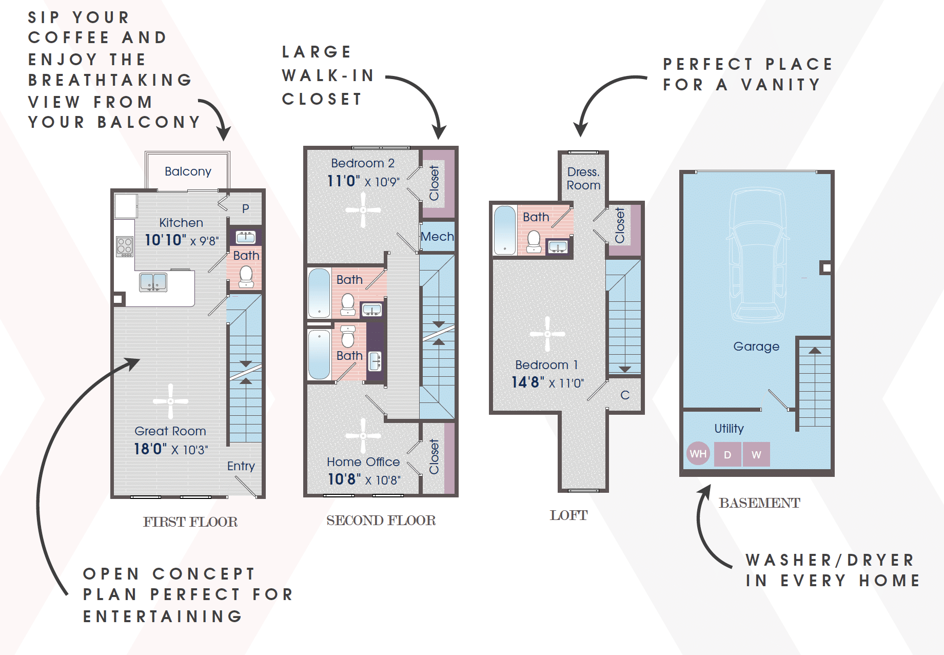 Two Bedroom Apartment with Home Office